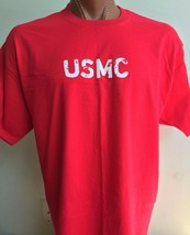 Awesome USMC Graphic Tee Hanes 100% Cotton Red 2XL United States Marines... - $15.42
