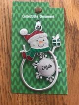 "Christmas Tree Ornament Snowman ""Elijah"" Vintage Rare Ships N 24h - $11.86"