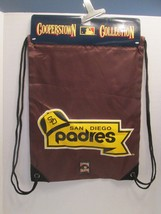 M317p San Diego Padres MLB Cooperstown Collection Drawstring Backpack To... - ₹1,089.51 INR