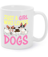 Dog Lover Coffee Mug Gift Just a Girl Who Loves Dogs Women Kids - $16.95