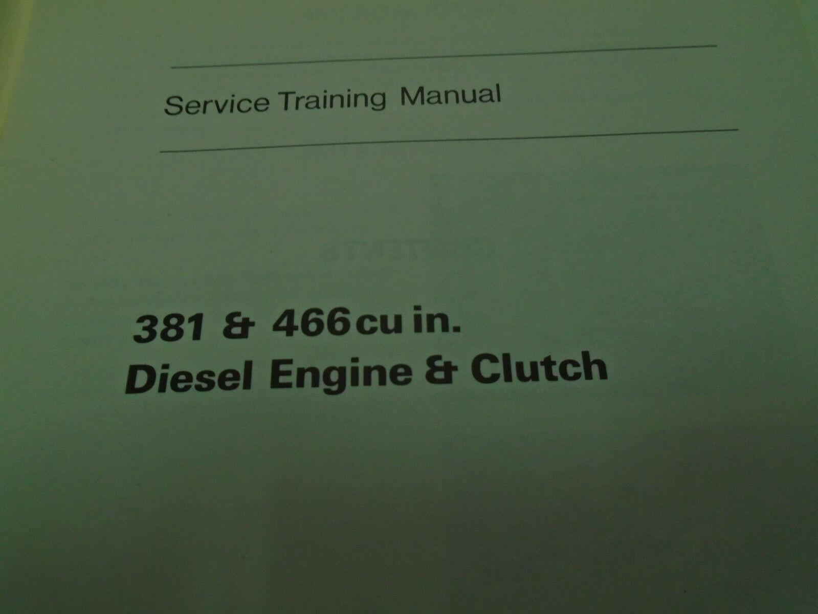 1971 GM 381 & 466 cu In Diesel Engine Clutch Service Repair Shop Training Manual image 2