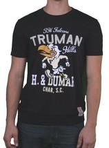 Hawke & Dumar Mens Black Truman Hills Falcons Varsity Cut & Sew T-Shirt NWT