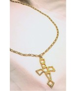 "Uniquely Geometric Cross on a Sturdy 36"" Chain - $70.13"