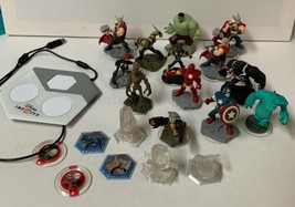 Disney Infinity Lot of 21 Characters Figures Portal Accessories Most are Marvel - $58.04