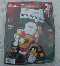 New Super RARE Bucilla Rock & Roll Santa Christmas Stocking Kit #84587 - 18in -  - $164.99