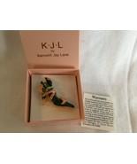 KJL Kenneth Jay Lane Gold Tone Pink Enamel Calla- lily High Heel Shoe Pi... - $15.17