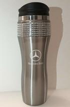 Mercedes-Benz 14oz Car Travel Mug Tumbler W/ Swarovski Crystals Stainless Chrome - $27.71