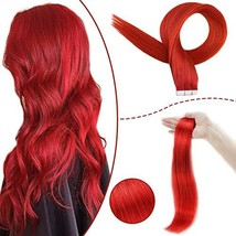 RUNATURE Human Remy Tape Extensions 22 Invisible Hair 25g 10Pcs Red Long... - $35.24