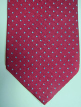 NEW Brooks Brothers Red With Small Blue & Silver Diamonds Silk Tie Made USA - $38.99
