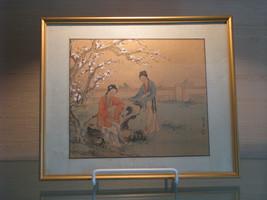 Antique Vintage Japanese Framed Painting on Silk - $90.00