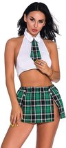 Oliveya School Girl Lingerie Set Sexy Uniform Set Role Play Mini Plaid Skirt image 10