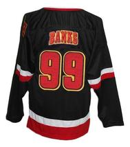 Any Name Number Eden Hall Warriors Retro Hockey Jersey Black Banks Any Size image 2