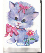 Huge Kitty Cat - Purple Kitten Greeting Card & Envelope by Quality Crest... - £9.36 GBP