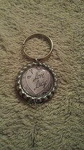 I LOVE LUCY on Silver Bottlecap Keyring Gift Id... - $5.00