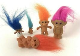 Vintage Mini Troll Lot Kitsch Collectible Small Trolls - $11.87