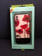 KATE SPADE Poppy Flowers Red Black Clear Resin Iphone X 10 Case - $31.92