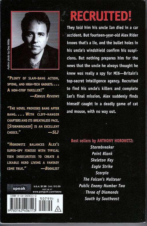 Stormbreaker Alex Rider by Anthony Horowitz  PB 2006