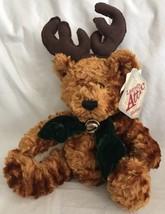 Dan Dee Laurells Attic Plush Christmas Teddy Bear Reindeer Antlers NWT H... - $15.83
