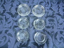 "6 Vintage Hazel Atlas Glass Furniture Coasters 2 large 2 1/4"" and 4 smal... - $13.99"