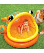Fish Type  Inflatable Baby Swimming Water Pool Kids Paddling Bathing Pla... - $79.81