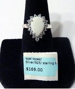 Opal and Topaz Ring 925 Sterling Silver Stamped... - $30.00