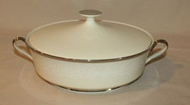 Lenox Round Ivory Covered Vegetable Serving Bowl with Handles White Flowers - $85.09