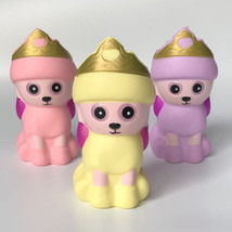 Crown Dog Cream Bread Squishy Soft Slow Rising Squeeze Kids Toy Pressure Relief - $2.29