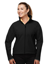 Tri-Mountain Ascent 6420 Poly Stretch Bonded Soft Shell Jacket - Black/D... - $48.65+