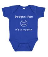 LA Los Angeles Dodgers Fan It's in My DNA Baby Dad Bodysuit Creeper  - $8.95