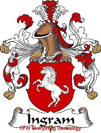 INGRAM German Coat of Arms INGRAM Family Crest