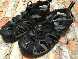Women's KEEN Whisper Black Fabric Sandals Size 38 / 7.5 US - $34.64