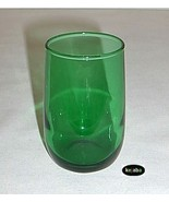 Forest Green Tumbler 3.25 inches Juice Curved Anchor Hocking - $3.25