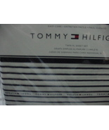 Tommy Hilfiger Navy Stripe on White Sheet Set Twin XL - $33.00