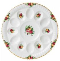 """Royal Albert Old Country Roses Deviled Egg Plate Platter 11.5"""" New IN BO... - $46.74"""