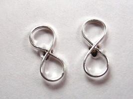 Infinity Symbol Stud Earrings 925 Sterling Silver Corona Sun Jewelry - $12.86