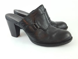 Born Handcrafted Mules Black Leather Pumps 10 - $22.45
