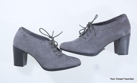 Clarks Araya Hale Ankle Bootie sizes 8 11 Grey Suede Leather High Heel S... - $40.77