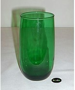 Forest Green Tumbler 5 inches Ice Tea Curved Anchor Hocking - $3.95