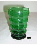 Forest Green Tumbler 4.25 inches Water Whirly Twirly Anchor Hocking - $4.50