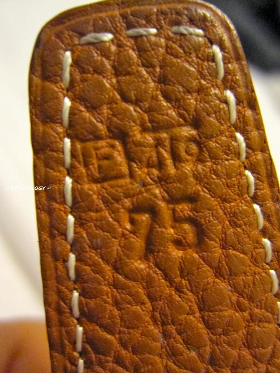 Vintage HERMES belt in Black Box & Gold Togo with H Palladium Buckle Size 75