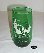 Forest Green Tumbler 5 inches Ice Tea The Hansom Anchor Hocking - $3.95