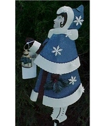Yard Stake, Metal, Victorian Girl Christmas Car... - $25.00