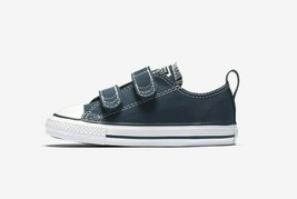 Converse Toddler's Chuck Taylor 2V Low Shoes NEW AUTHENTIC Navy 711357F - $27.97