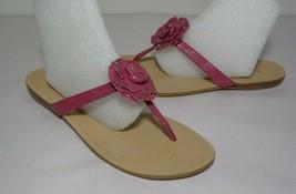 Nine West Size 7.5 M TISHA Medium Pink Leather Sandals New Women's Shoes - $38.61