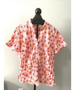 Plus Size Women Floral V Neck Tunic 2X Short Sleeve Casual Loose Harmony... - $12.19