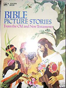 Vintage Golden Book  Bible Picture Stories
