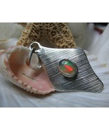 Sterling Silver Solitaire Opal Pendant  3.41grams - $45.00