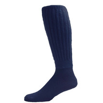 Skweez Couture Slouch Socks, Navy, 9-11 - $14.84