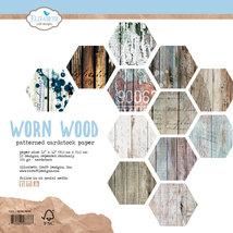 Worn Wood Card Stock. 12X12 Double Sided.  Elizabeth Craft Designs.