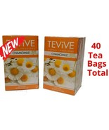 2 TEA TEViVE Chamomile Herbal Infusion 40 Bags Total Hot or Iced Delicious  - $9.89